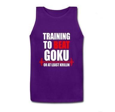 Training to Beat Goku or at Least Krillin Men Tank Top - Saiyan Stuff
