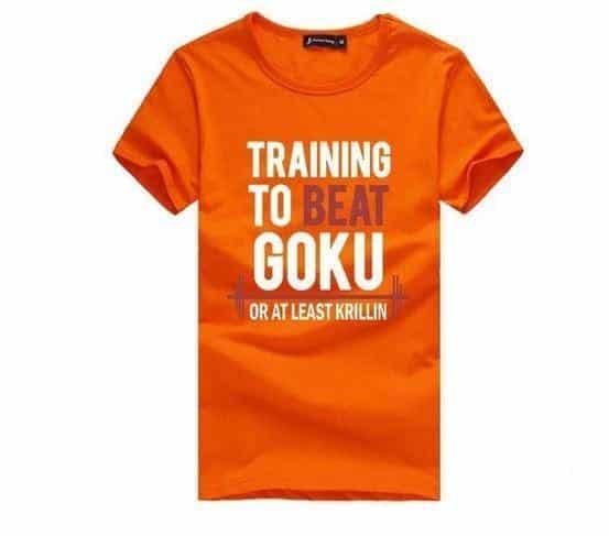 Training to Beat Goku or at Least Krillin T- Shirt Men - Saiyan Stuff