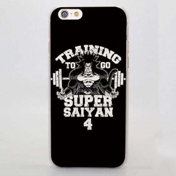 Training to Go Super Saiyan 4 Broly Hard iPhone 4 5 6 7 Plus Case