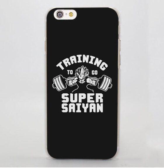 Training to Go Super Saiyan Classic Hard iPhone 4 5 6 7 Plus Case