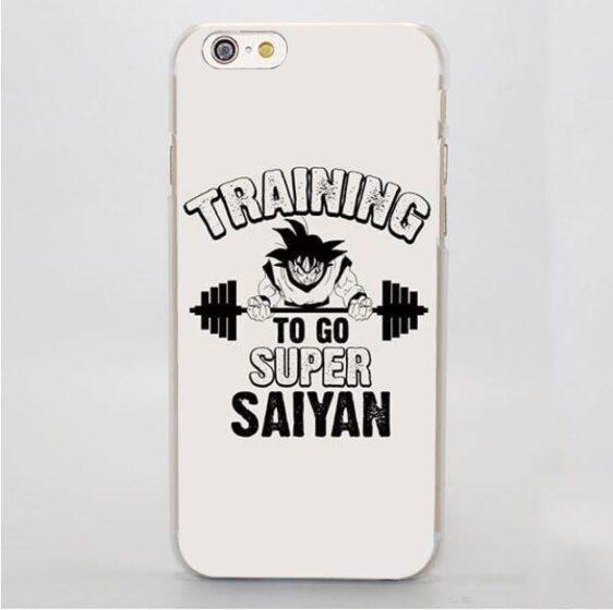 Training to Go Super Saiyan Goku Workout Hard iPhone 4 5 6 7 Plus Case