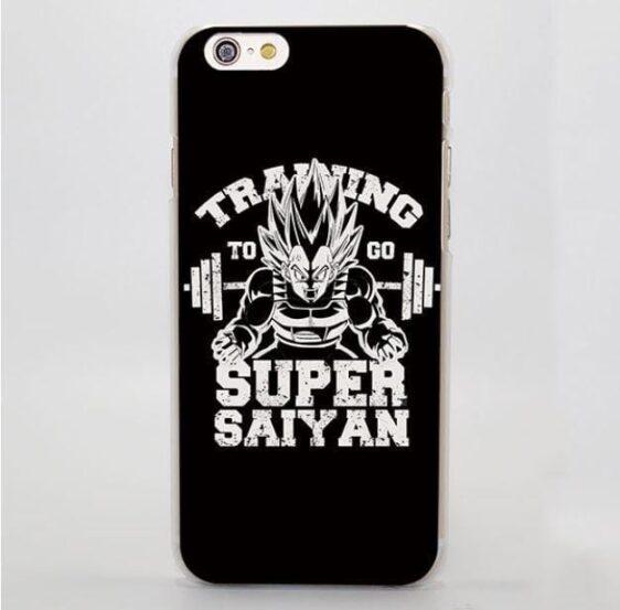 Training to Go Super Saiyan Vegeta Black Hard iPhone 4 5 6 7 Plus Case