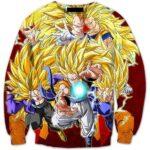 Ultimate Super Saiyan SSJ3 Fusion Warriors Premium 3D Sweatshirt - Saiyan Stuff