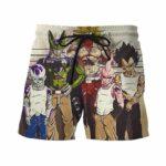 Usual Suspects Dragon Ball Z Villains Wanted Vintage 3D Shorts - Saiyan Stuff