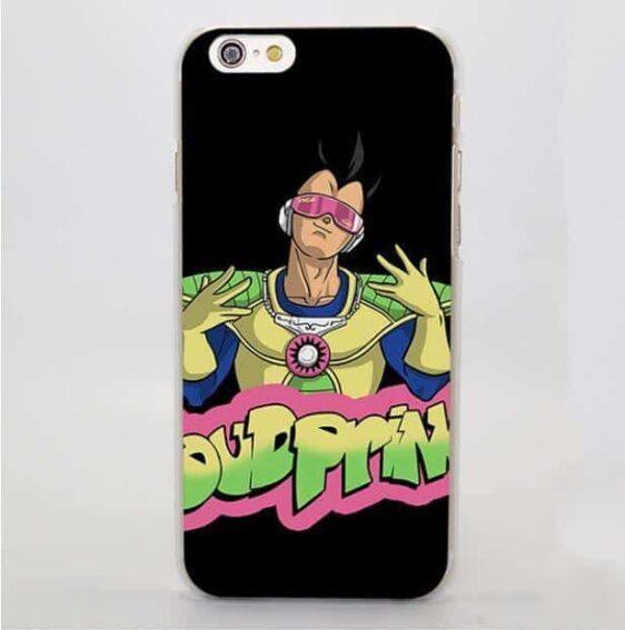 Vegeta Dub Prince Graffiti Cool Black Hard iPhone 4 5 6 7 Plus Case