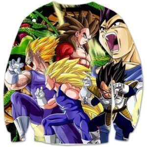 Vegeta Ultimate Super Saiyan Transformations SSJ4 3D Sweatshirt - Saiyan Stuff