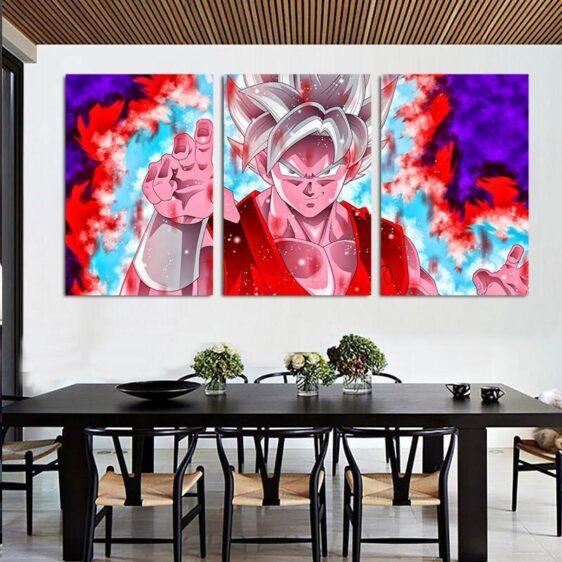 DBZ Goku Whis Symbol Kaioken Power Aura 3pc Canvas Prints Wall Art