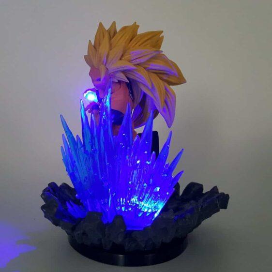 SSJ3 Goku 3 Super Saiyan Kamehameha Wave Blue Aura DIY 3D LED Light Lamp