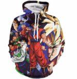 Z-Fighters Dragon Ball Z Heroes Characters Astonishing 3D Hoodie - Saiyan Stuff