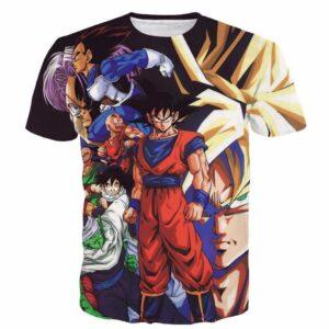 Z-Fighters Dragon Ball Z Heroes Characters Astonishing 3D T-Shirt - Saiyan Stuff