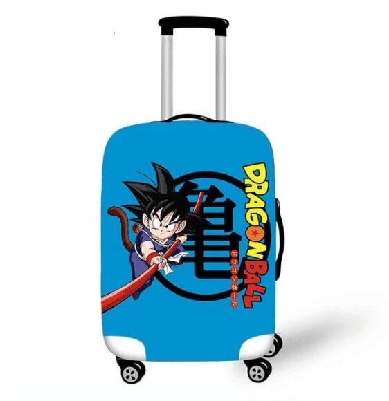 Dragon Ball Young Goku Power Pole Blue Luggage Cover