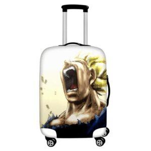 Screaming Angry Super Saiyan Majin Vegeta Luggage Cover