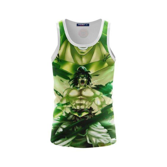 Legendary Super Saiyan Strong Broly Green Tank Top