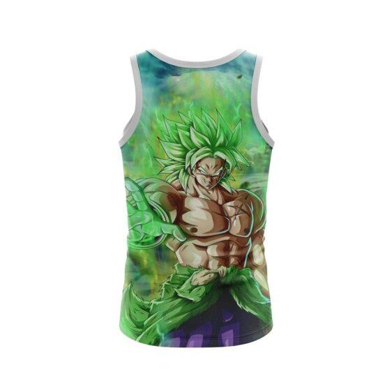 Muscular Shirtless Super Saiyan Broly Green Tank Top