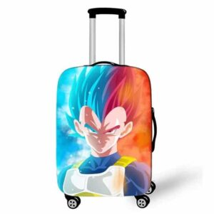 DBZ Vegeta Super Saiyan God Blue Red Suitcase Cover