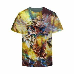 Dragon Ball Z Son Goku Super Saiyan 3 Brave Luminous Yellow Tshirt