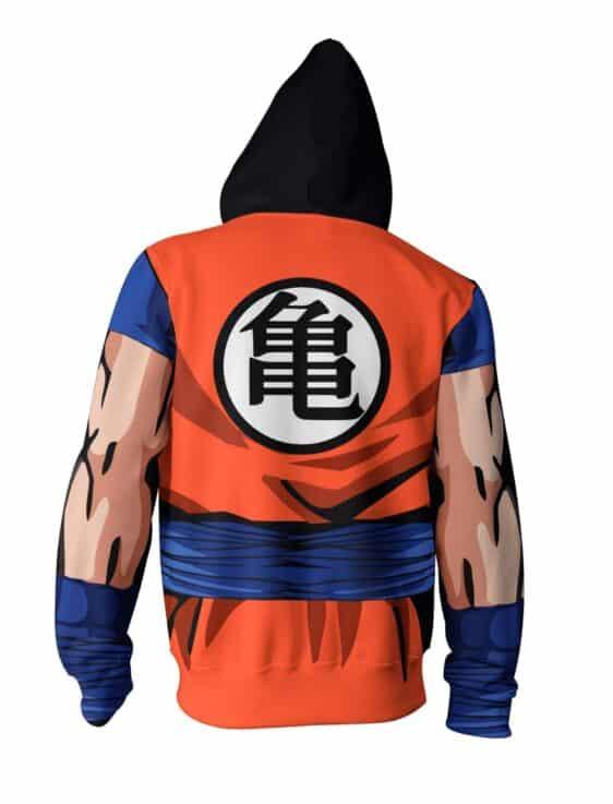 Dragon Ball Z Cool Master Roshi Buffed Orange Uniform Zip Up Hoodie