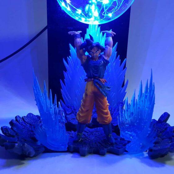 Son Goku Spirit Bomb Genki Dama Blue Flash Ball DIY 3D LED Light Lamp