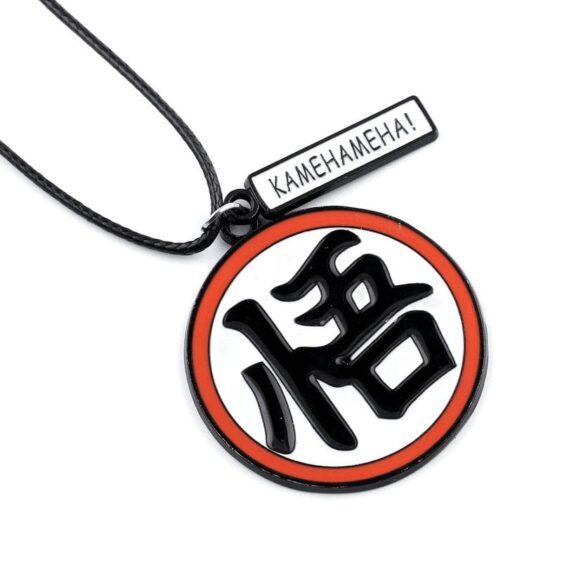 Dragon Ball Z Wisdom Goku Kanji Symbol Red Necklace