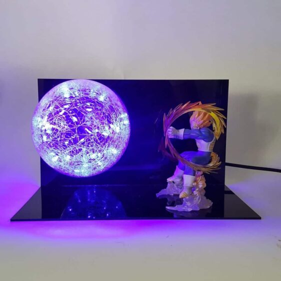 Vegeta Super Saiyan Final Flash Attack Flash Ball DIY 3D LED Light Lamp