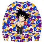Supreme Goku Kid Gangster Ferragamo Belt Colorful Camouflage Sweatshirt