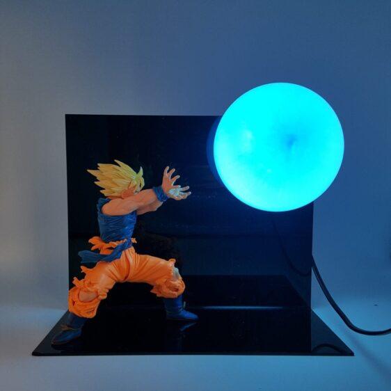 DBZ Son Goku Super Saiyan Kamehameha Wave DIY 3D Light Lamp