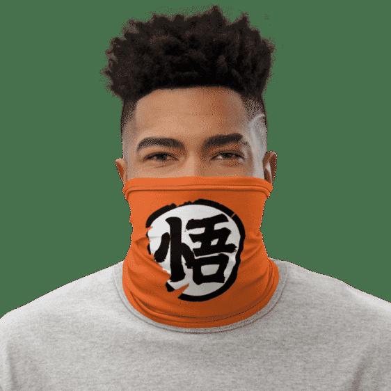 Dragon Ball Z Goku Kanji Wisdom Face Covering Neck Gaiter