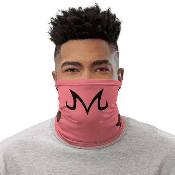 Dragon Ball Z Majin Buu Sigil Pink Face Covering Neck Gaiters