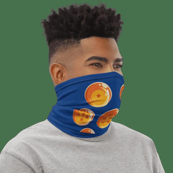 Dragon Ball Z Earth Dragon Balls Blue Face Covering Neck Gaiter