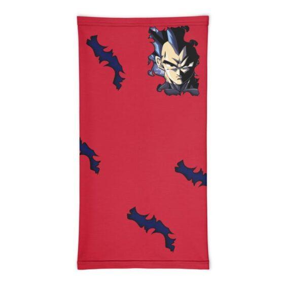 Dragon Ball Z Vegeta Torn Design Red Face Covering Neck Gaiter