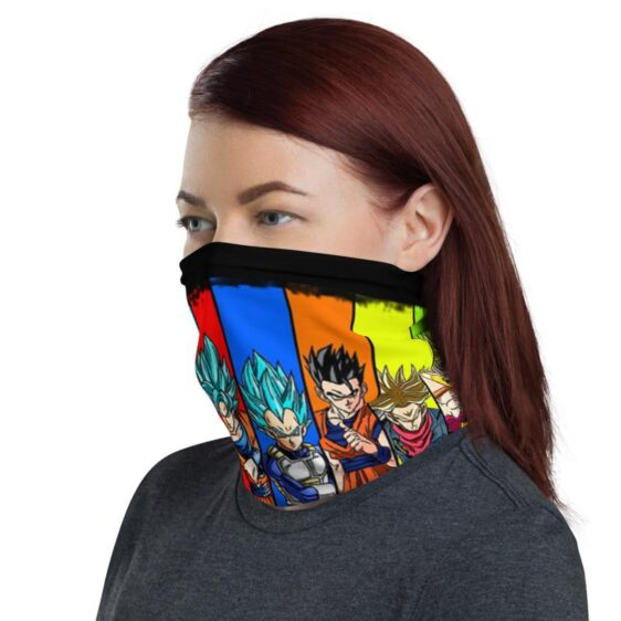 Dragon Ball Z Various Characters Black Face Covering Neck Gaiter