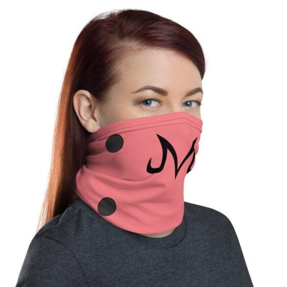Dragon Ball Z Majin Buu Sigil Pink Face Covering Neck Gaiter