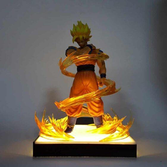 DBZ Son Goku Dope Super Saiyan 2 Pose Yellow Aura DIY 3D Light Lamp