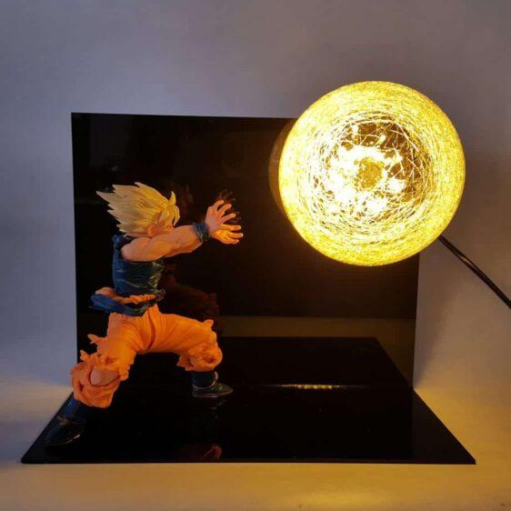 DBZ Son Goku Super Saiyan Kamehameha Wave Flash Ball DIY 3D LED Light Lamp