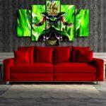 Dragon Ball Z Electrifying Broly Full Power 5pcs Canvas Print