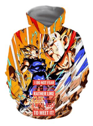 Dragon Ball Z The Fearless Majin Vegeta Super Saiyan Hoodie