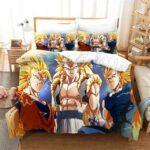 Goku, Vegeta, And Gogeta Super Saiyan 3 Form Bedding Set