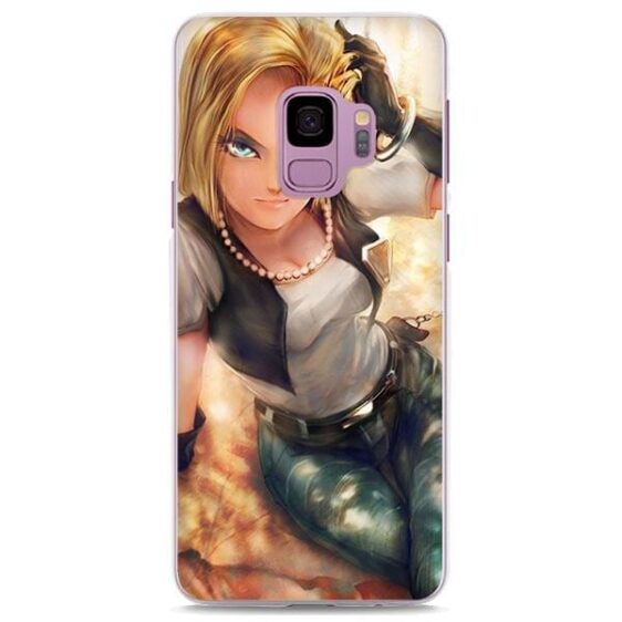 DBZ Android 18 Realistic Samsung Galaxy Note S Series Case