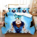 Grinning Powerful Vegito Super Saiyan Blue Bedding Set