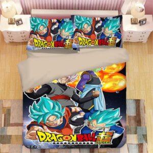 DBS SSJ Blue Goku & Vegeta Goku Black & Zamasu Bedding Set