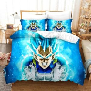 Powerful Energy Vegeta Super Saiyan Blue Bedding Set