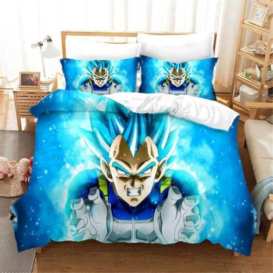 Powerful Energy Vegeta Super Saiyan Blue Bedding Set