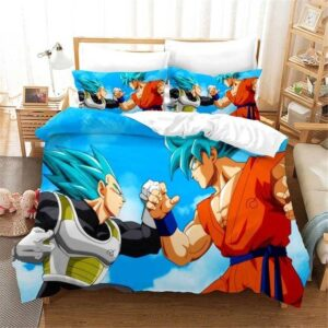 Goku fighting Vegeta In Super Saiyan Blue Form Bedding Set