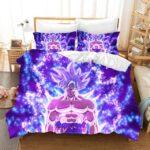 DBZ Son Goku Ultra Instinct Purple Aura Bedding Set
