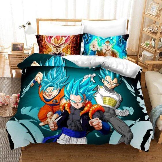Gogeta Super Saiyan Blue Son Goku & Vegeta Fusion Bedding Set