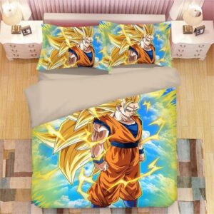 Dragon Ball Fierce Son Goku Super Saiyan 3 Bedding Set