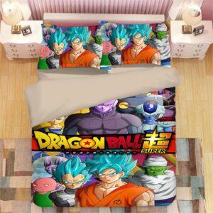 Dragon Ball Super Son Goku & Hit Team Battle Bedding Set