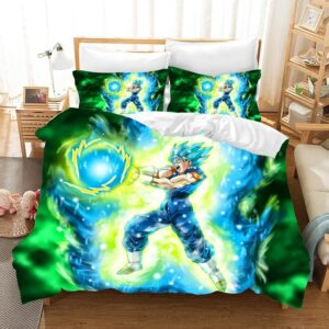 DBZ Vegito Super Saiyan Blue Energy Ball Bedding Set
