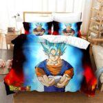 DBZ Smiling Vegito Super Saiyan Blue Bedding Set