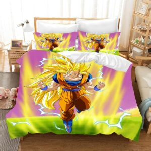 DBZ Serious Son Goku Super Saiyan 3 Form Bedding Set